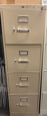HON 4 drawer vertical filing cabinet - letter size in Spring, Texas