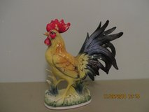"""Vintage Collectible 8"""" Porcelain Rooster Figurine by Norcrest Crafted in Japan in Joliet, Illinois"""