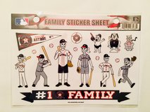 Houston Astros Official MLB Astros Fan Family Sticker Set~NEW in Kingwood, Texas