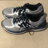 Men's Asics GT-2000 Running Shoes Silver/Blue/Black Size 8 Excellent in Travis AFB, California