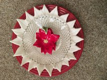 Glass Plate Flowers #3 price reduced in Camp Lejeune, North Carolina