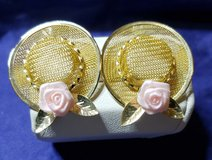 Beautiful Gold Toned Hat Earrings 1980's in Alamogordo, New Mexico