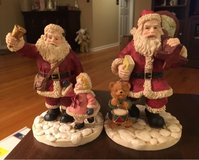 2 Santa Figures in Naperville, Illinois