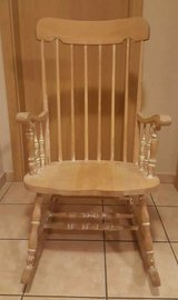 Wooden rocking chair Shabby natural oiled in Spangdahlem, Germany
