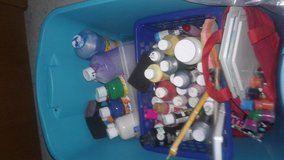 Big tote full of crafts items paints.. stamp pass good stuff for kids and adults in Fort Riley, Kansas
