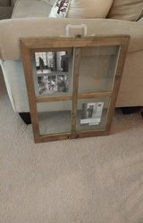 17 in X 22 in WINDOWPANE COLLAGE FLOAT FRAME WEATHERED WOOD FRAME in Bolingbrook, Illinois