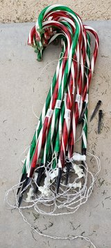 REDUCED Christmas Candy Cane lights in 29 Palms, California