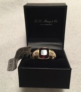 * NWT Men's Garnet & Diamond Ring * in Naperville, Illinois