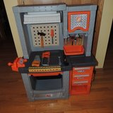 Step2 Home Depot Deluxe Pretend Workshop Tool bench & Tools in Morris, Illinois