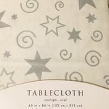 *SAT PICKUP* Target brand starlight oval tablecloth in Okinawa, Japan