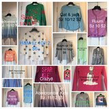Girls Christmas  Holiday Tops Sweaters Cardigans Abercrombie sz 11 12 in Westmont, Illinois