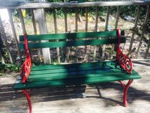 Antique Park Bench - Christmas Style in Wilmington, North Carolina