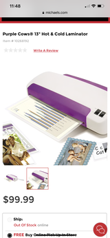 NEW Laminator (heat / cold) w/ thermal pouches in Kingwood, Texas