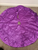 Purple Christmas Tree Skirt in Fort Campbell, Kentucky