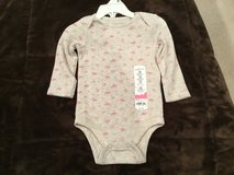 Girls long sleeve oneies - 12 months - nwt in Orland Park, Illinois
