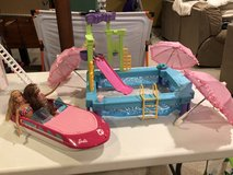 Barbie Glam Boat Speedboat with Canopy & Barbie Pool in Naperville, Illinois