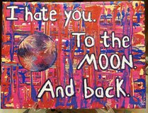 """""""Hate Moon"""" 9x12 Canvas Painting in Byron, Georgia"""