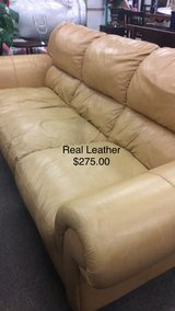 Real Leather Couch in Fort Leonard Wood, Missouri