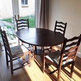 Dining table (extending) and 4 chairs in Lakenheath, UK