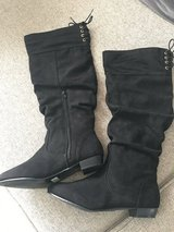Over knee faux Leather boots Never worn in Grafenwoehr, GE