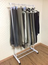 Rolling Garment Rack in Camp Humphreys, South Korea