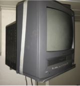 TV / VHS player with wall mount in Heidelberg, GE