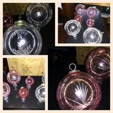 Six Large Etched Glass Ball Ornaments in Naperville, Illinois