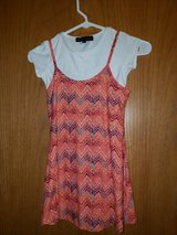 girls dress 2pc...coral/blue/why sz.6/6x in bookoo, US