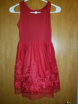 girls red holiday dress sz.8 missing belt in bookoo, US