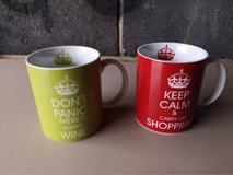 pair of keep calm mugs in Lakenheath, UK