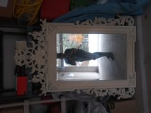 Large wooden mirror very hot in Lackland AFB, Texas