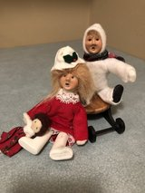 Byers Choice 2 Kindles Christmas Carolers Boy and Girl with Sled in Naperville, Illinois