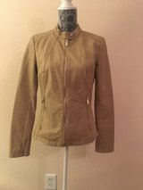 Tan leather jacket in Nellis AFB, Nevada