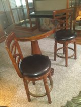 BEAUTIFUL PUB TABLE w/2 SWIVEL BAR STOOLS in Beale AFB, California