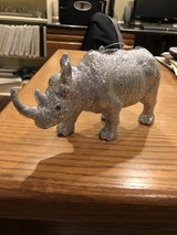 "3 New Glittery 8"" Rhino Ornaments from Z Gallerie in Chicago, Illinois"