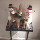 2 REINDEER AND 2 SNOWMAN DECORATIONS in Naperville, Illinois