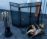 Vintage  3 Panel Fireplace Screen in Vacaville, California