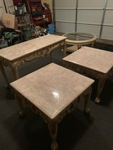 Set of 4  Medium Brown Marble Coffee Table in Fort Rucker, Alabama