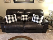 Leather couch and loveseat in Camp Lejeune, North Carolina