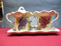 "Vintage Sugar and Creamer set - ""Cabernet"" Hand Painted Collection in Sandwich, Illinois"