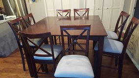 Counter height kitchen table and chair set - 9 pieces in Joliet, Illinois
