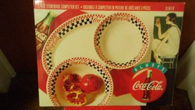 Coca Cola (3) Collectible Stoneware Sets & (1) Canister Set-NEW IN BOXES in Alamogordo, New Mexico