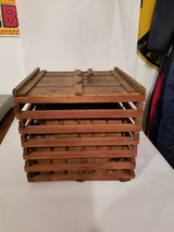 Vintage Wood Egg Crate Farmhouse Decor in Schaumburg, Illinois