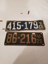 Vintage 1920s License Plates in Bartlett, Illinois