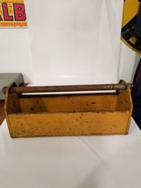 Vintage Rusty Metal Carrier Tool Box in Schaumburg, Illinois