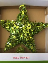 GLITTERING GREEN TREE TOPPER     BRAND NEW! in Glendale Heights, Illinois