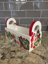BRAND NEW!!  MEDIUM SIZE HANDPAINTED HOLIDAY WOOD CARD/ORNAMENT BOX in Glendale Heights, Illinois