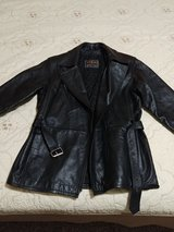 LARGE Womens Leather Zipper-cuff Buckle Coat in Lawton, Oklahoma