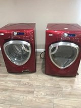GE Washer and Dryer set - RED in Spring, Texas