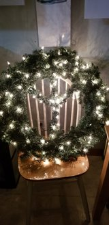 Lighted wreath in Naperville, Illinois